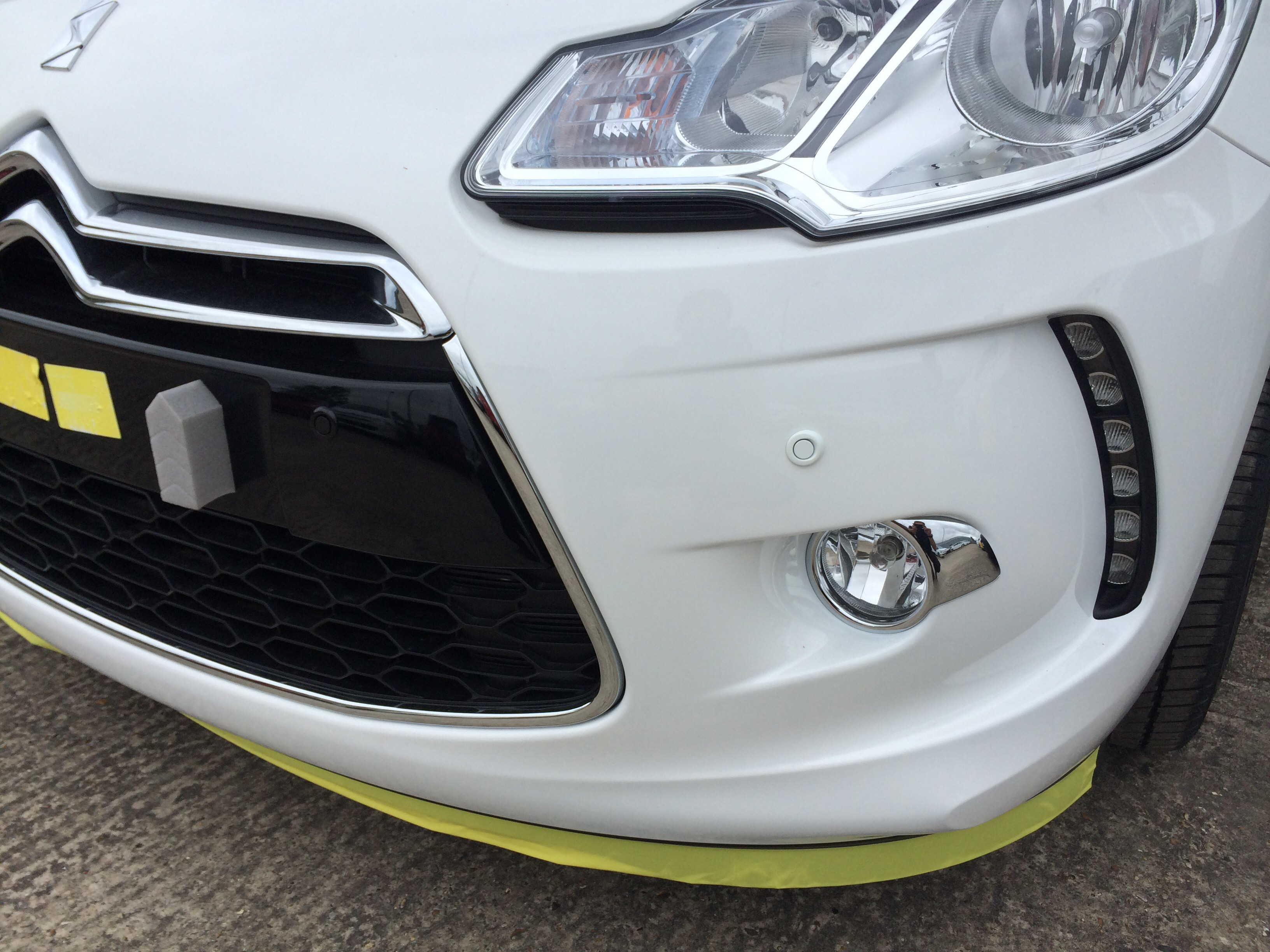 Citroen DS3 with Steelmate front and rear park distance control