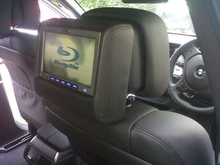 DVD monitors with active head rest system
