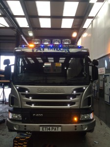 Scania truck ancillary lighting.